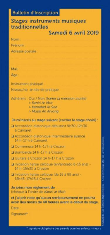 Stage découverte instruments et musiques traditionnelles